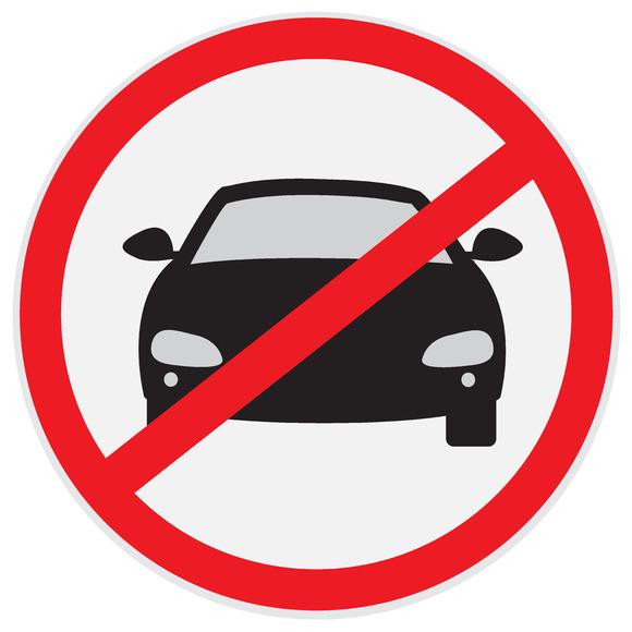 No Parking Sign Car