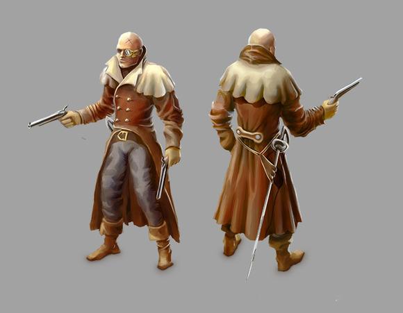 Victorian Character In Coat