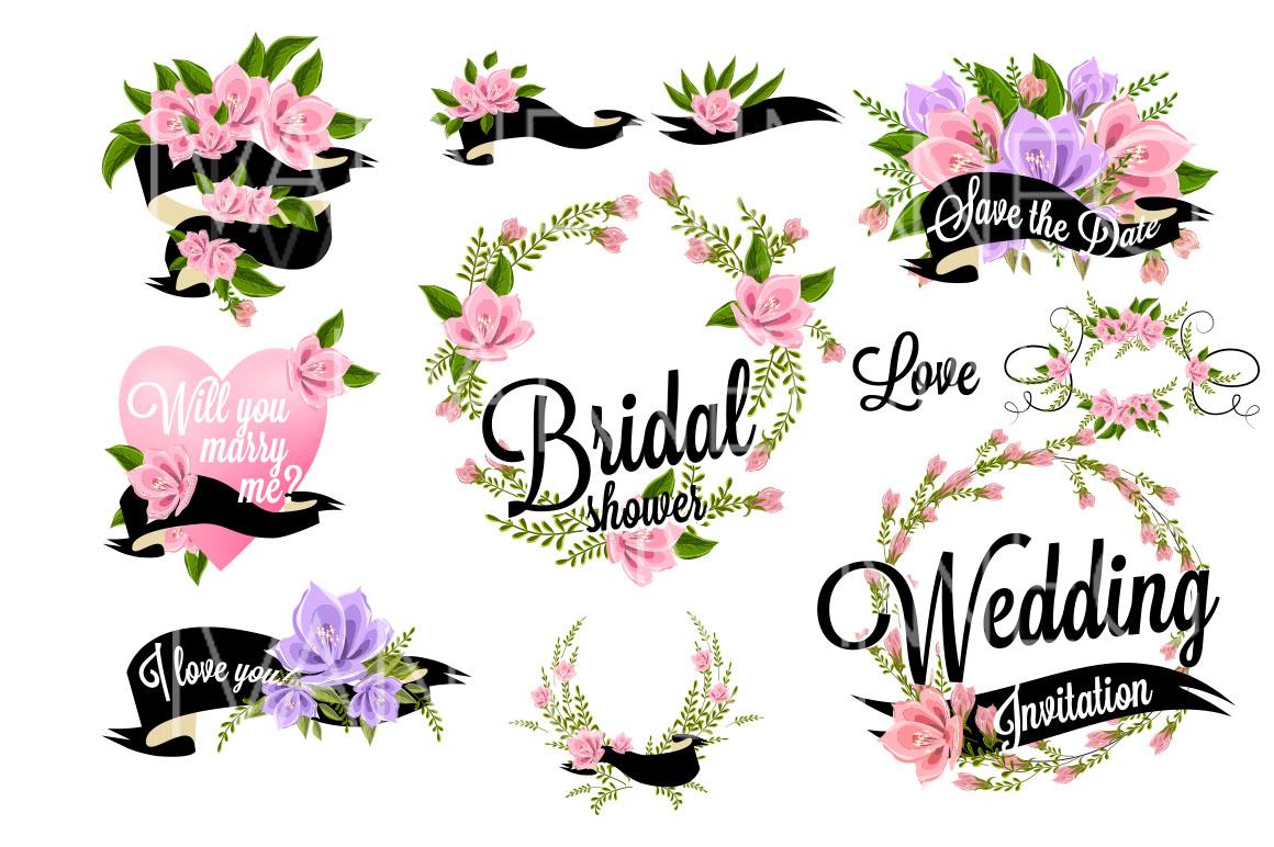 37 Wedding Floral clipart set ~ Illustrations on Creative ...
