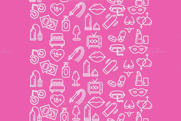 Intim or Sex Shop Background. Vector - Patterns