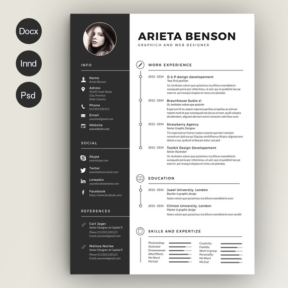 Resume Formats Creative Clean Cv-Resume