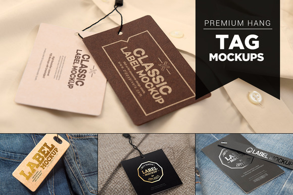 14 Premium Hang Tag Mockups Vol. 2 - Product Mockups