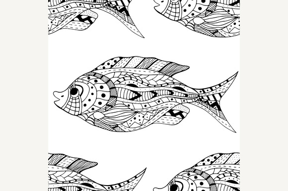 Seamless Of Fish Background