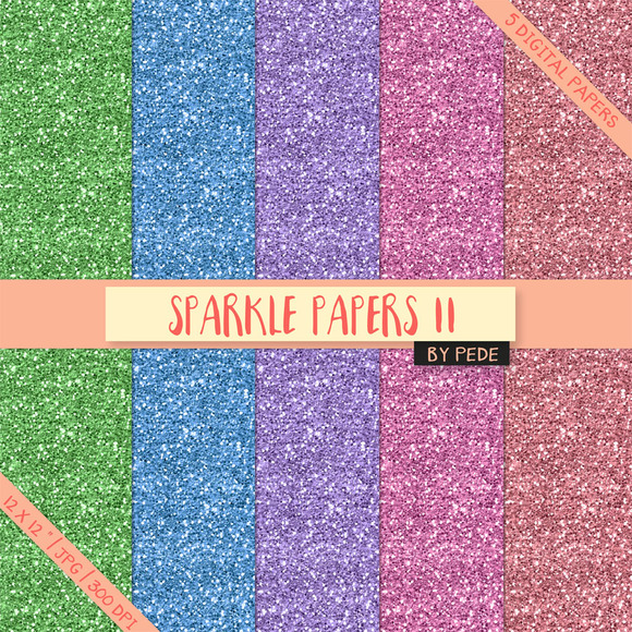 Colorful Sparkle Papers