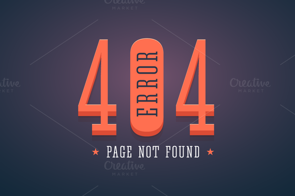 404 Error Website Page