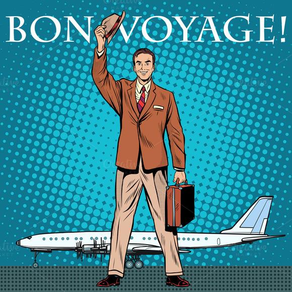 Bon Voyage Businessman Passenger