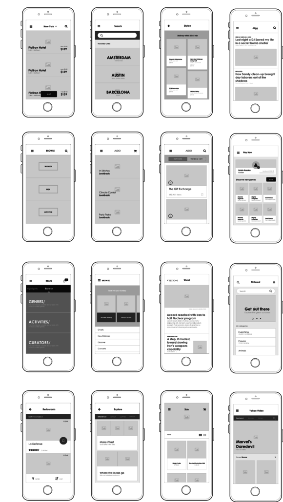 Axure Mobile UI For Listings