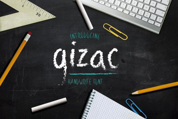 Gizac Handwrite Font Type
