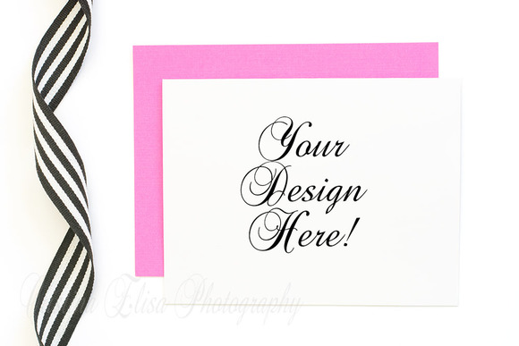 Pink Envelope Mockup Styled Stock