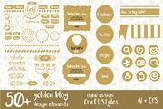 Hand Drawn Golden Blog Desi-Graphicriver中文最全的素材分享平台
