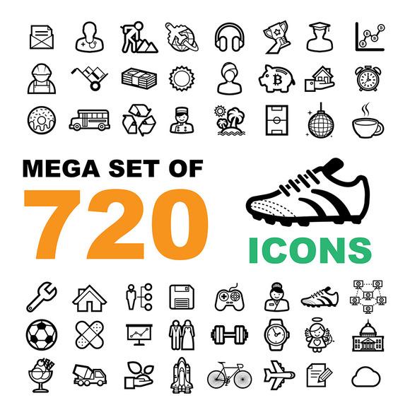 Mega Set Of 720 Icons