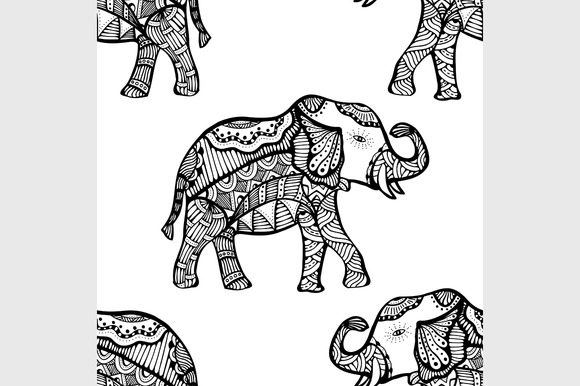 Pattern With Elephant