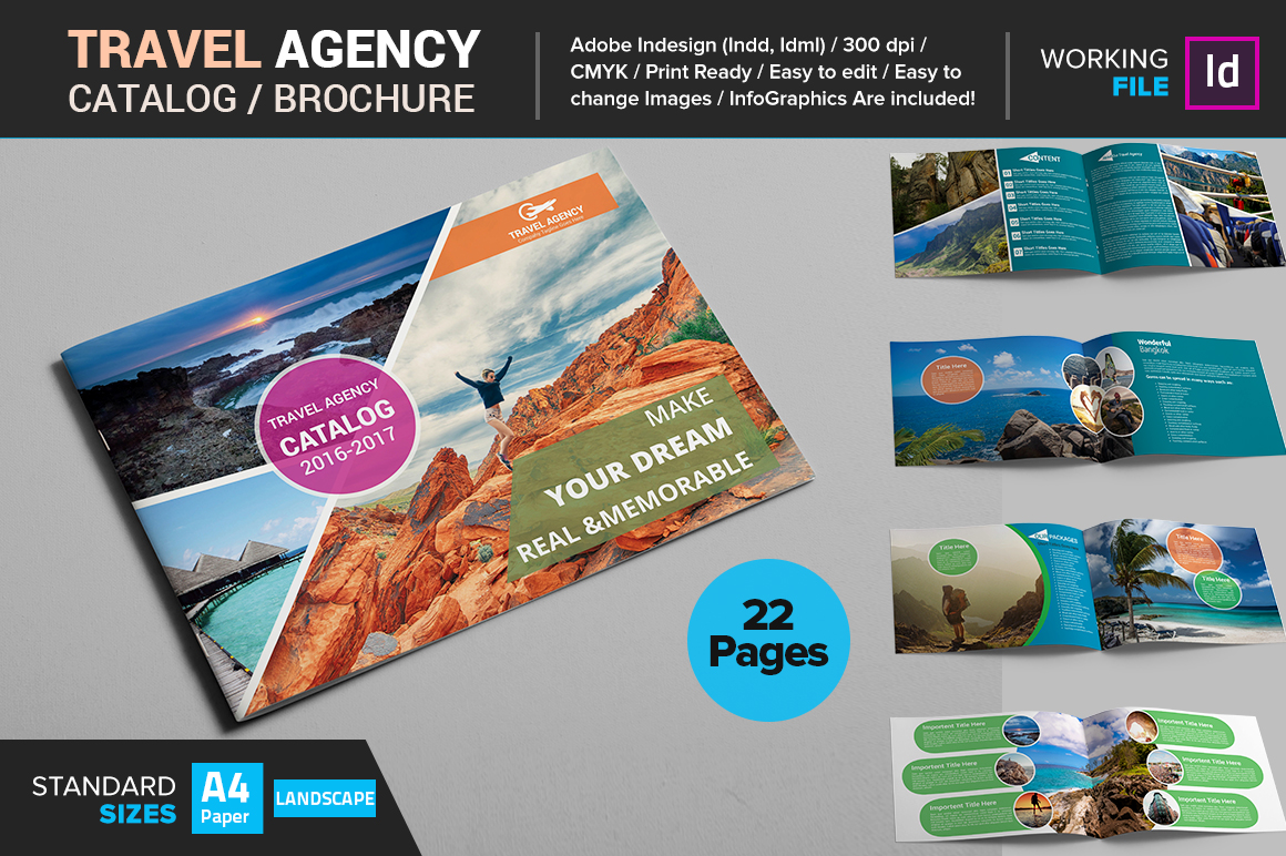 travel agency brochure template - travel agency catalog brochure brochure templates on