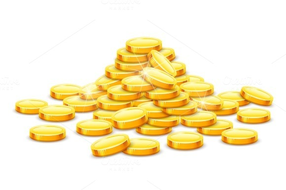 Gold Coins Cash Money In Hill