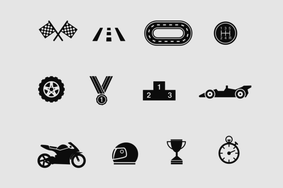 12 Racing And Car Icons