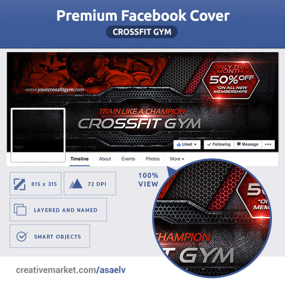 50% OFF- Crossfit Gym FB Cover