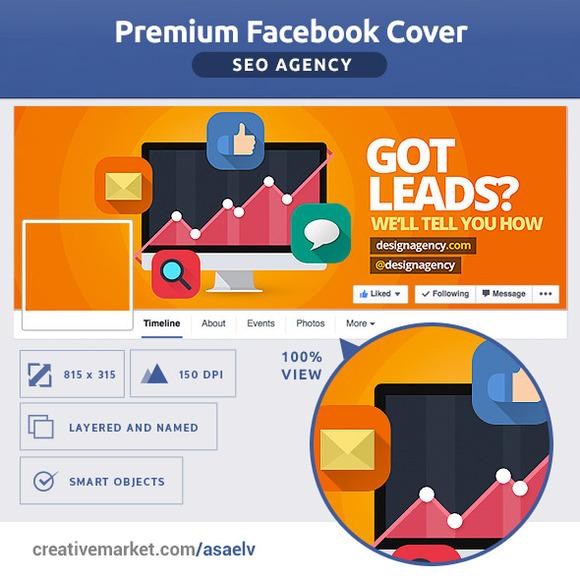 50% OFF- FLAT SEO Agency FB Cover