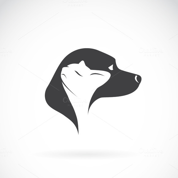 Vector Image Of Dog And Cat