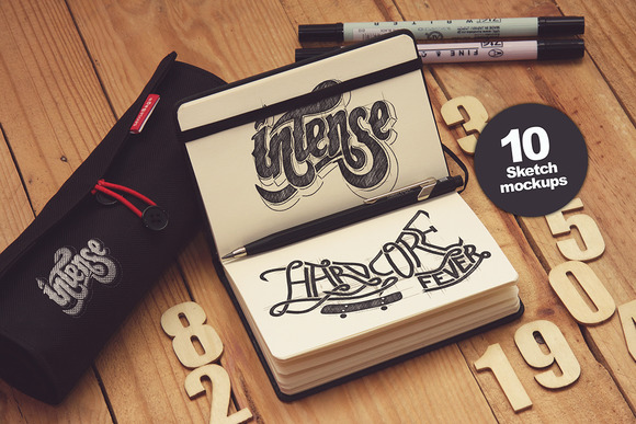 10 Sketch Mockups vol.1 - Product Mockups