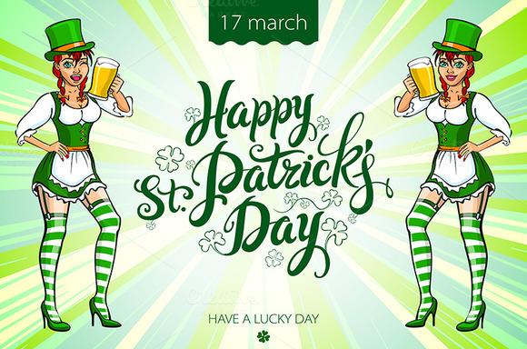 Saint Patrick's Day. Irish Girl - Graphics