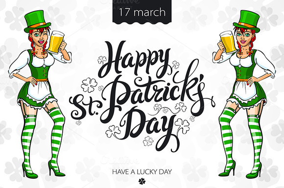 Saint Patrick's Day. Irish Girl - Graphics