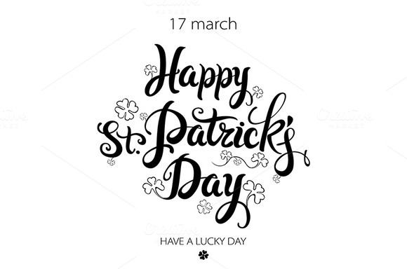 happy St.Patrick's Day lettering - Graphics