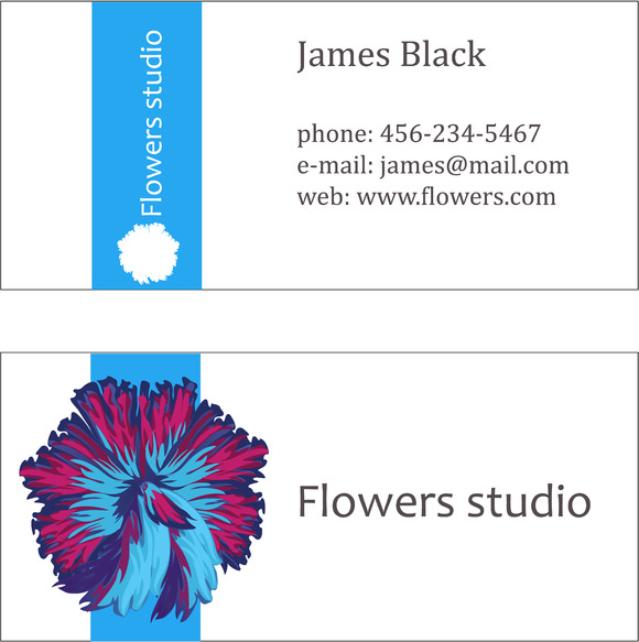 Three Floral Business Cards