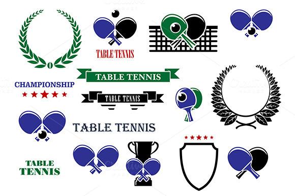 Table Tennis Game Heraldic Elements