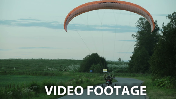 Paramotor Takes Off