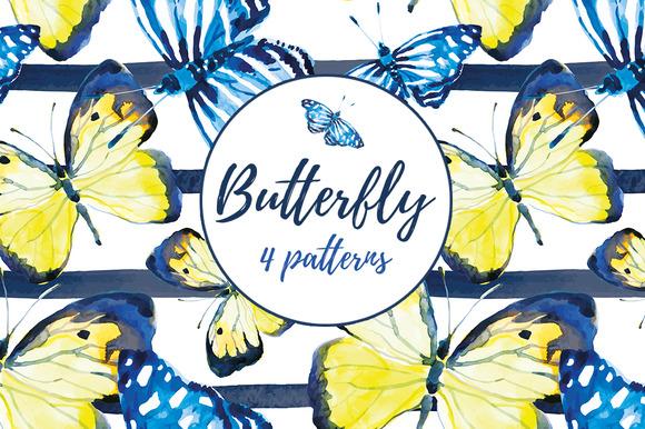 Butterfly. 4 patterns. - Patterns
