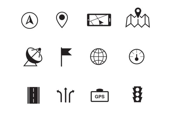 12 GPS And Navigation Icons