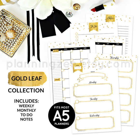 Printable A5 Planner Inserts Set