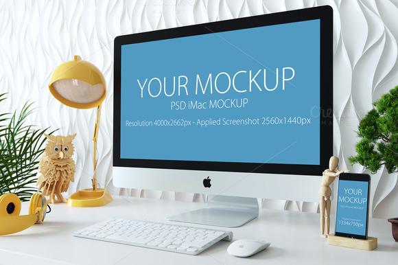 IMac And Iphone Mockup