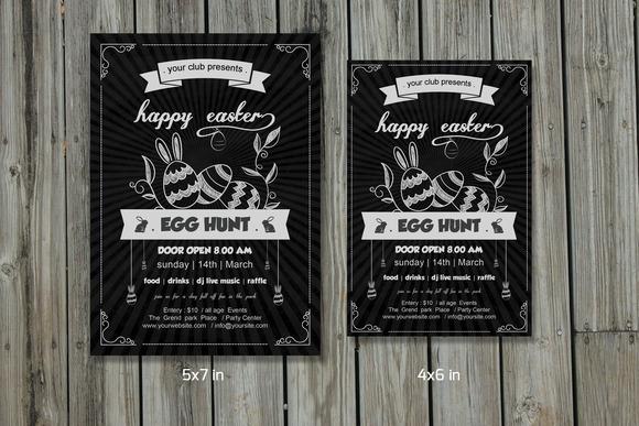 Easter Egg Hunt Party Flyer-V214