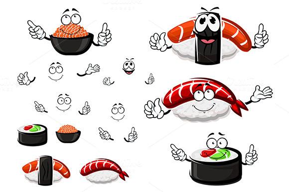Nigiri Sushi With Shrimp