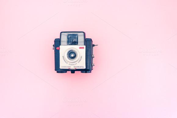 Retro Camera For Pink Hero Header