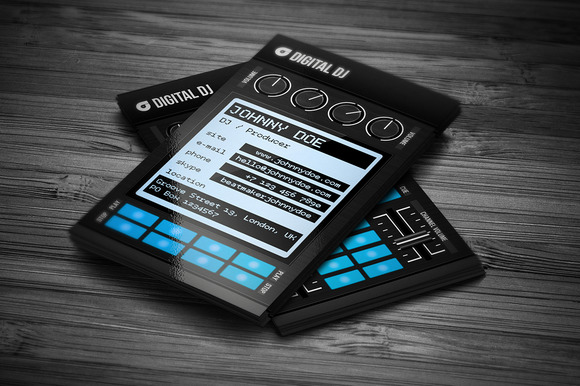 CreativeMarket Digital DJ Business Card Template 558704