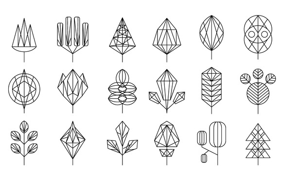 Graphical Leaf Of The Tree Set