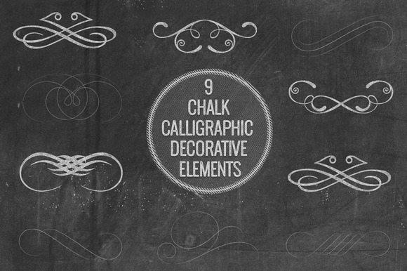 Chalk Calligraphic Decorative Elemen