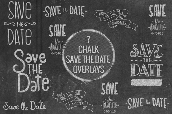 Chalk Save The Date Overlays