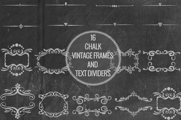 Chalk Vintage Frames Text Dividers