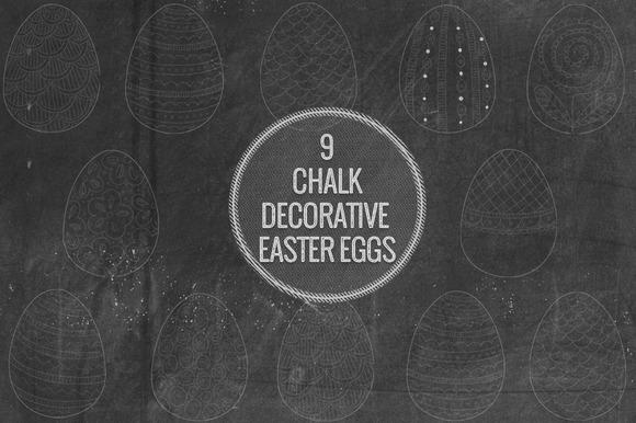 Chalk Decorative Easter Eggs