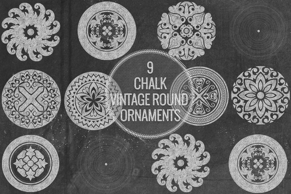 Chalk Vintage Round Ornaments