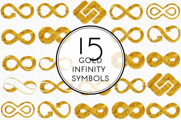 Gold Infinity Symbols