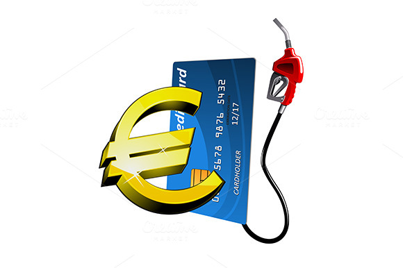 Credit Card And Gasoline Pump Nozzle