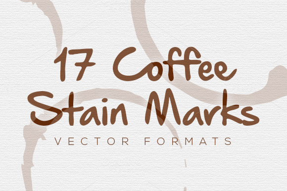 17 Vector Coffee Stain Marks