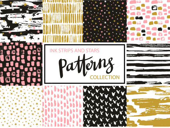 Hipster Patterns Stars And Ink