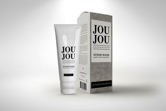 Cosmetic Cream Tube Box Mock-up
