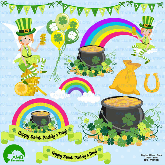 St Patricks Day Clipart AMB-1184