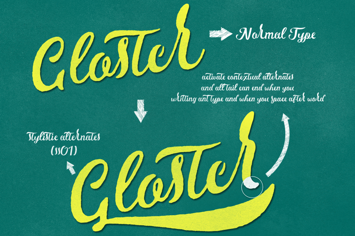 Gloster Typeface - Script - 8